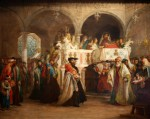 Solomon Alexander Hart - The Feast of the Rejoicing of the Law at the Synagogue in Leghorn, Italy, 1850 (The Jewish Museum, New York: Gift of Mr. and Mrs. Oscar Gruss, JM 28-55)