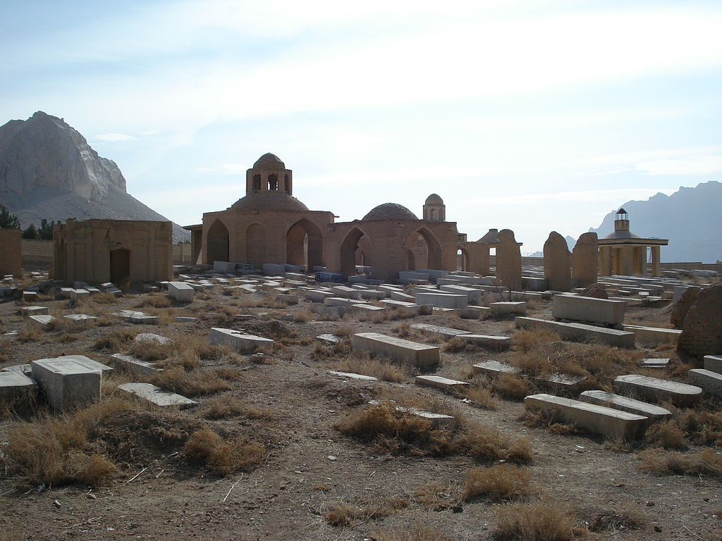 Image: Jewish cemetery in Linjan, Esfahan Province, Iran, the location of Seraḥ's tomb. Attribution: Farhad24 (Public Domain)