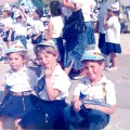 """Children celebrate the Independence Day at Sapphire Square in Netivot with flags and hats"" (credit: גיטה מילר, license: CC BY)"