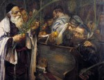 Image: Sukkot in the Synagogue (Examining the Lulav) (1895) by Leopold Pilichowski (1869 - 1933)