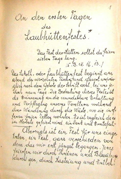 Olga Wees' Handwritten Transcription of Fanny Neuda's Stunden Der Andacht (v3-1)