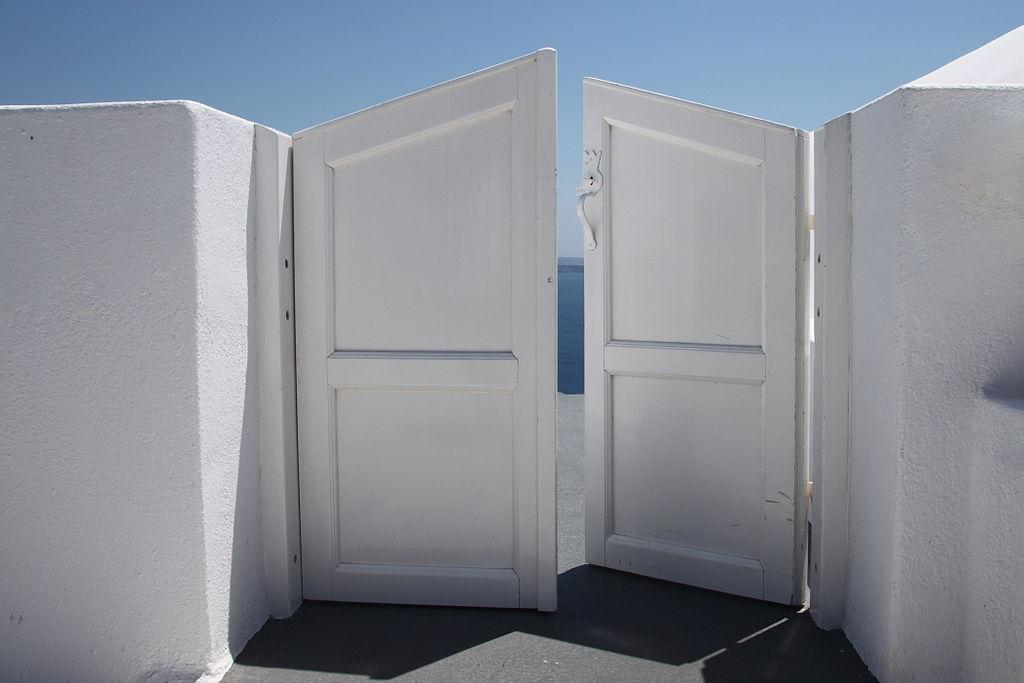 """Half-open door to Heaven"" (credit: Klearchos Kapoutsis, license: CC-BY)"