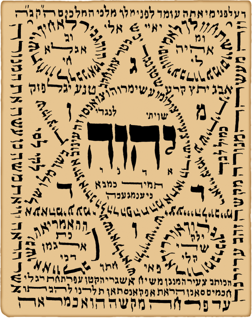 שִׁוִּיתִי | Shiviti by Mashiah Asgari, circa late 19th – early 20th century Herat, Afghanistan