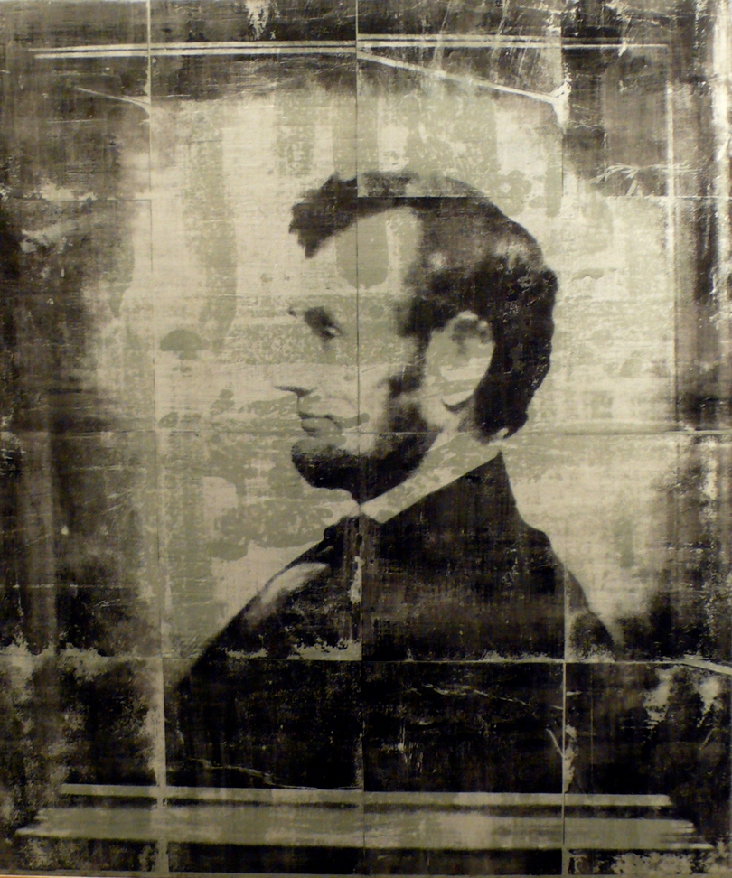 Image: Abraham Lincoln (A print of a photo by Angie Toppins of a painting by William Willard based on a portrait by Anthony Berger of Abraham Lincoln) by Jason Meyer (License: CC-BY 2.0)