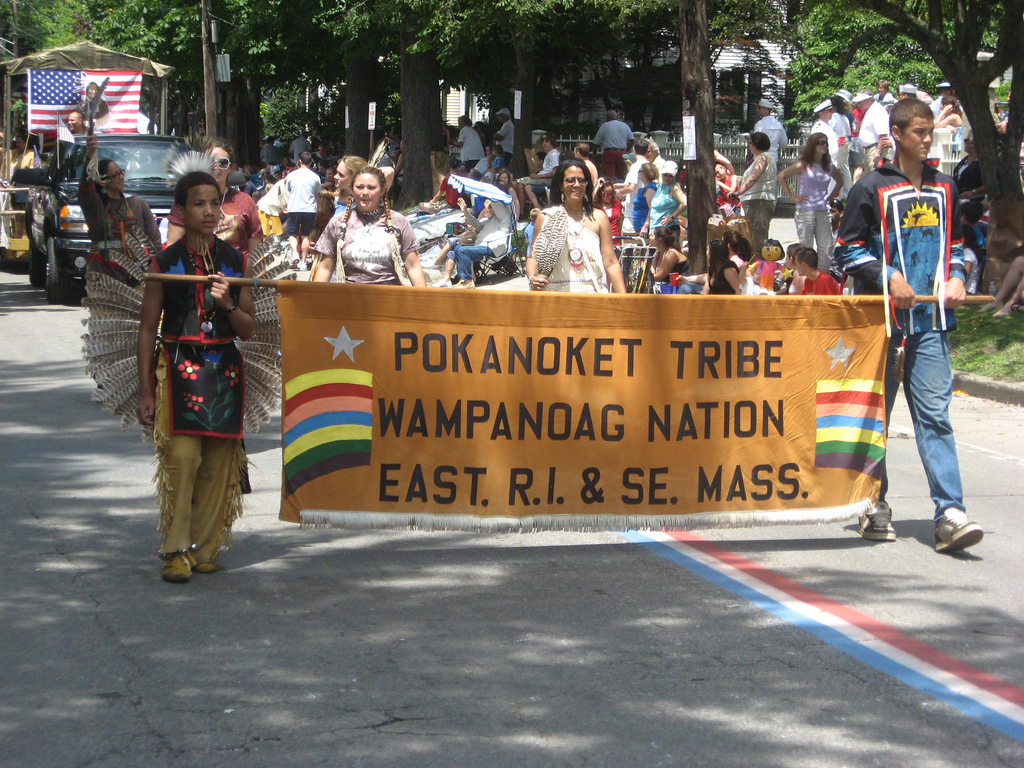 """Pokanoket Wampanoag banner (credit: H.C. Williams, license: CC-BY 2.0)"
