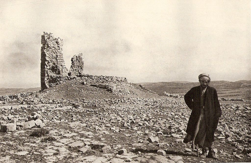 "The Ruins of Beth Zur, 1925"" (credit: Julius Hoffmann, Stuttgart, Public Domain). The Battle of Bet Zur in 164 BCE, brought victory for the Maccabees over the army of the Seleucid kingdom of Greece."