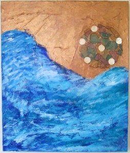 """Ocean in A Drop,"" by Margeaux Gray 20"" x 24"", Acrylic and mixed media, © 2015"