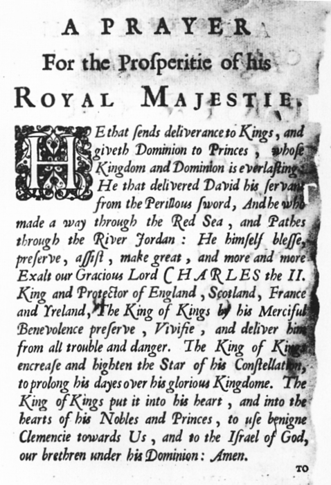 הַנּוֹתֵן תְּשׁוּעָה | Prayer for the Prosperity of his Royal Majesty, delivered by Rabbi Jacob Jehudah Leon Templo to King Charles II (1675)