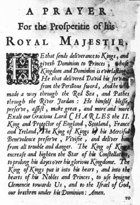 הַנּוֹתֵן תְּשׁוּעָה | Prayer for the Prosperity of his Royal Majesty, delivered by Rabbi Jacob Jehudah Leon Templo to King Charles II (1675)