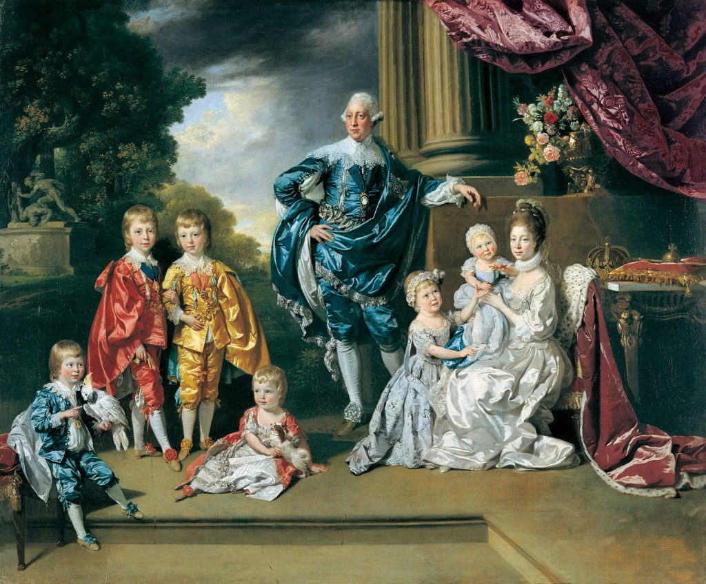 Johann Zoffany - King George III and Queen Charlotte with their six eldest children in 1770.