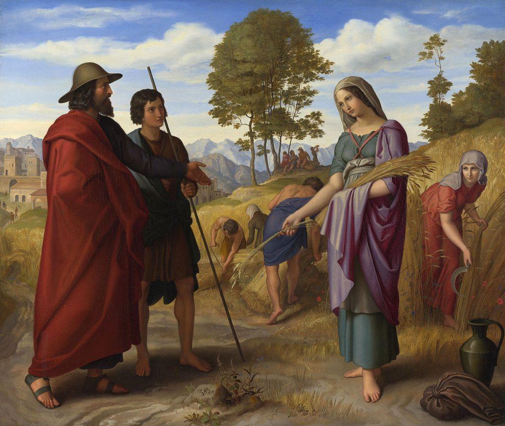 """""""Ruth in Boaz's Field """" (1828) by Julius Schnorr von Carolsfeld (1794–1872)"""