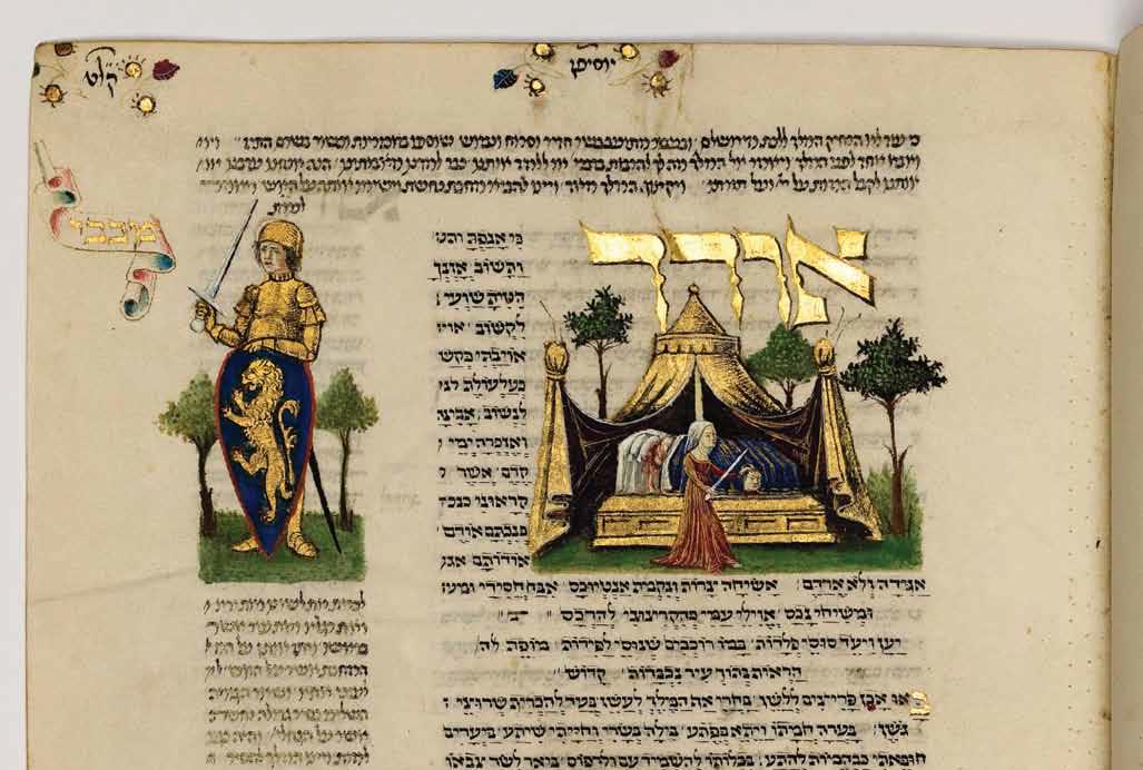 A 15th century Italian illustration for Odekha Ki Anafta. (Rothschild Miscellany, Jerusalem, Israel Museum, Ms. 180/51, fol. 217r, Italy 1470-1480.)