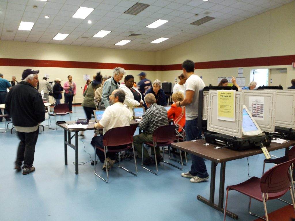 Early voting at Bauer Drive Community Recreation Center (credit: 	Ben Schumin, license: CC BY-SA)