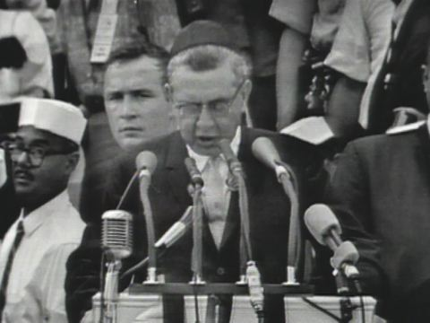 Rabbi Uri Miller delivering his prayer at the March on Washington 23 August 1963