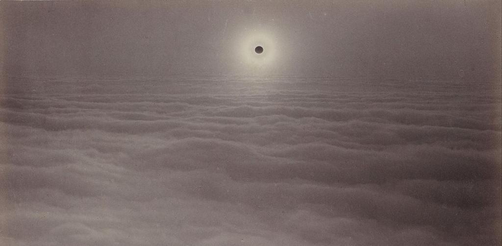 Solar Eclipse from Mount Santa Lucia (Carleton Watkins, 1889)