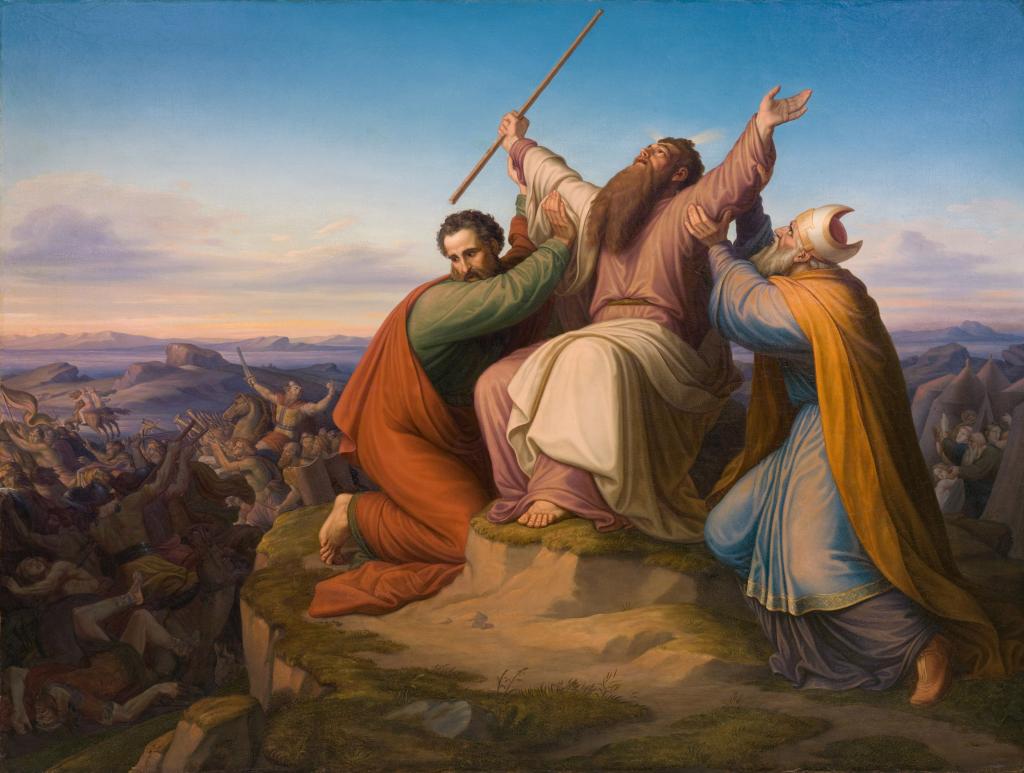 Moses Gebet bei der Amelikiter Schlacht (Gustav Jäger 1835)