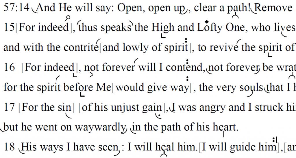 Haftarah Reading for Yom Kippur morning (Isaiah 57:14-58:14): Chantable English translation with trōp, by Len Fellman