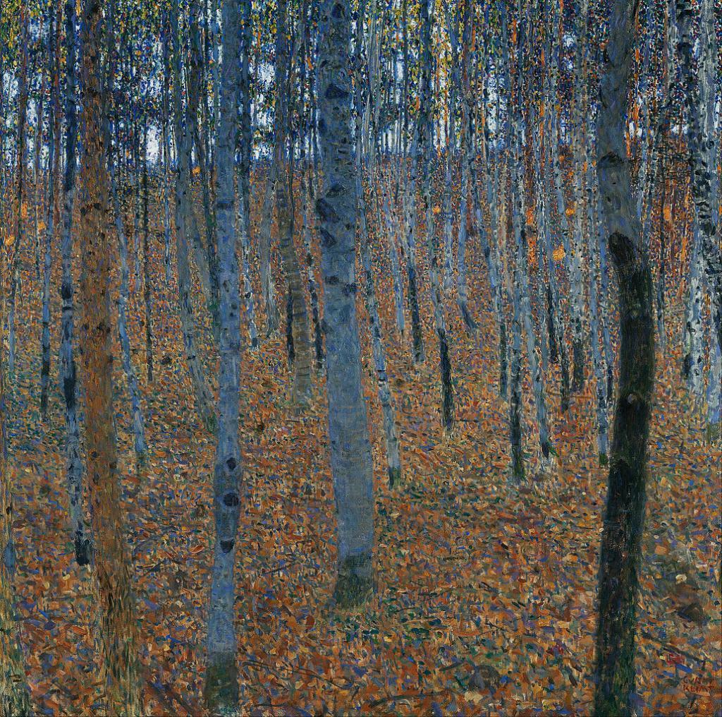 """Gustav Klimt - """"Beech Grove I"""" (1902)"""