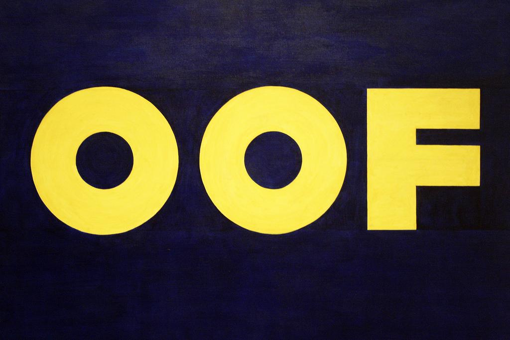 OOF by Edward Ruscha (courtesy MOMA)