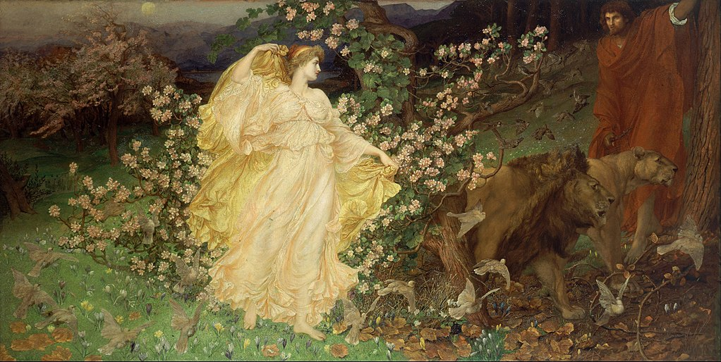 """Venus and Anchises"" by William Blake Richmond (circa 1889)"