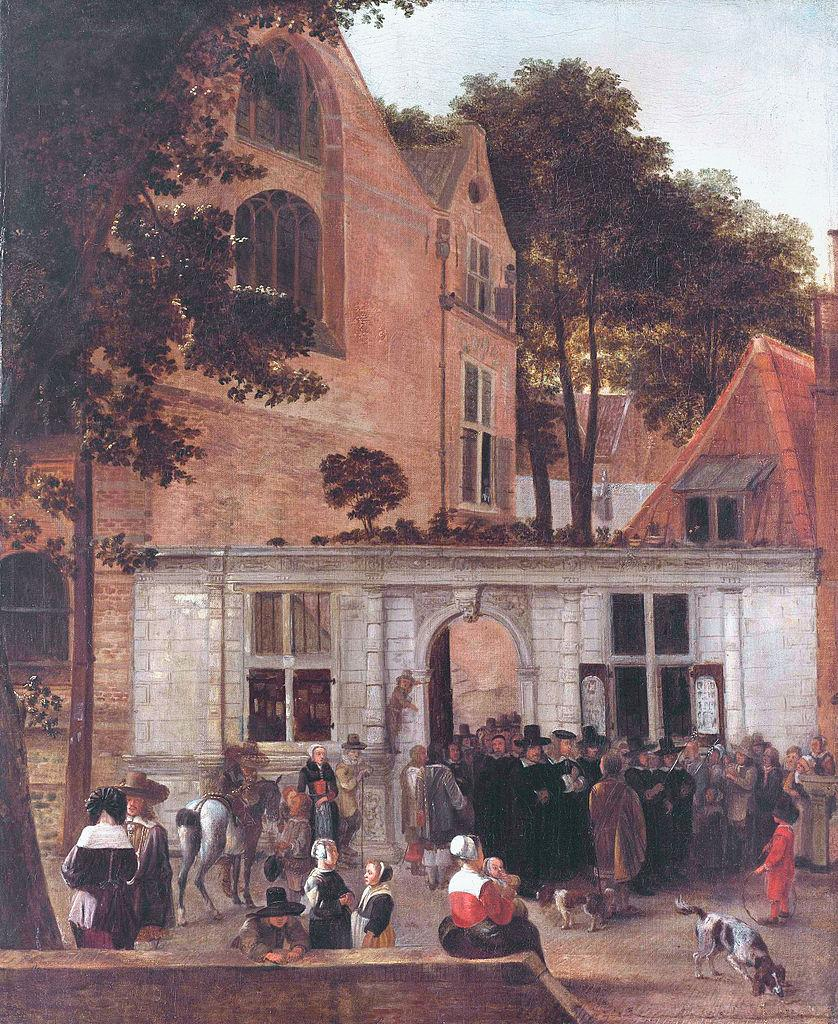 Hendrick van der Burgh - A Graduation Ceremony at Leiden University, about 1650