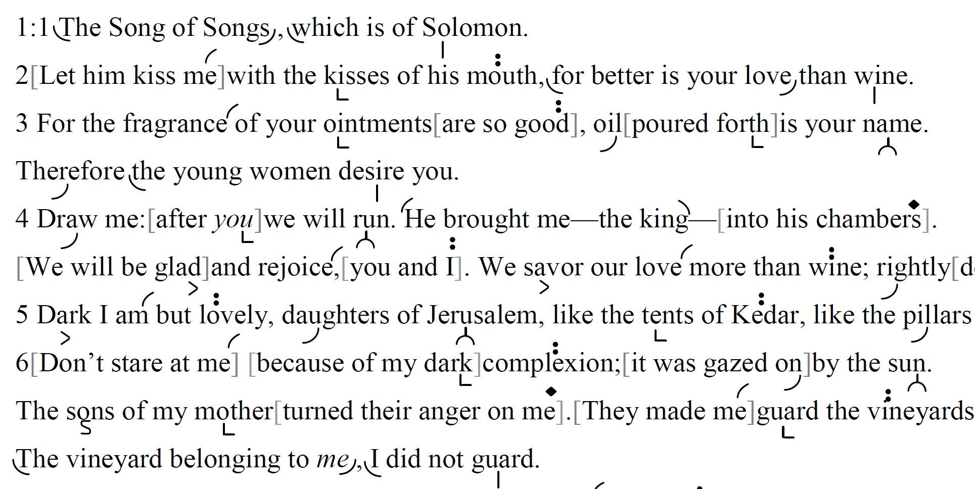 שִׁיר הַשִּׁירִים | Shir haShirim :: the Song of Songs