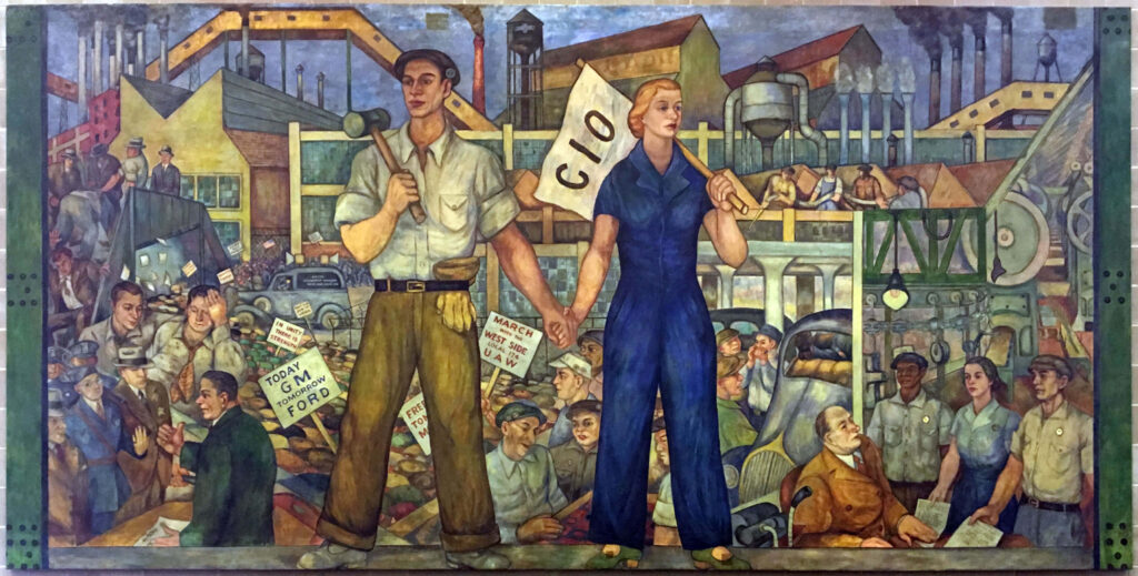 Local 174 Mural, Untitled (1937) by  Walter Speck and Barbara Wilson