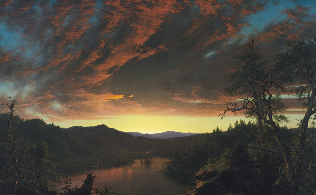 """Twilight in the Wilderness"" (1860) by Frederic Edwin Church"