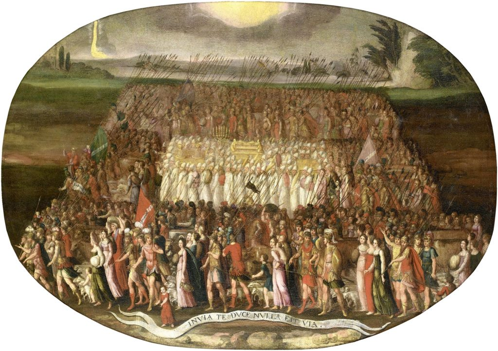The March of the Twelve Tribes of Israel with the Ark of the Covenant. (by Antoine Caron 1520–1599, or a follower)