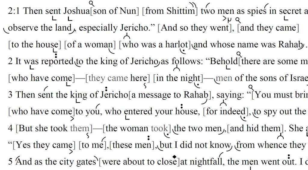 Detail of transtropilized translation of a portion of the Haftarah for Parashat Shlaḥ.