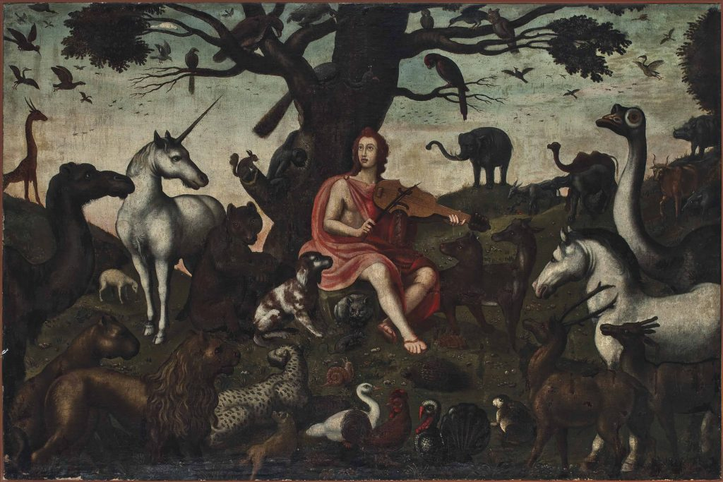 """Orpheus charming the Animals"" (follower of Jacob Bouttats 1660-1718)"