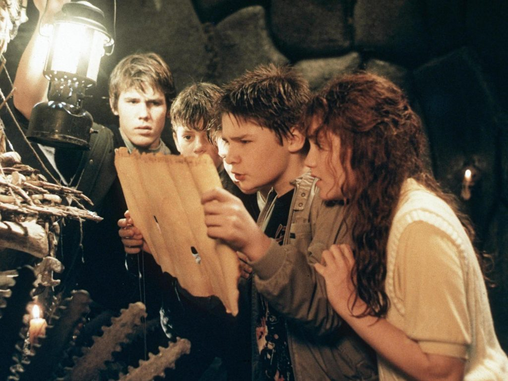 A frame from the film THE GOONIES (dir. Richard Donner, 1985).