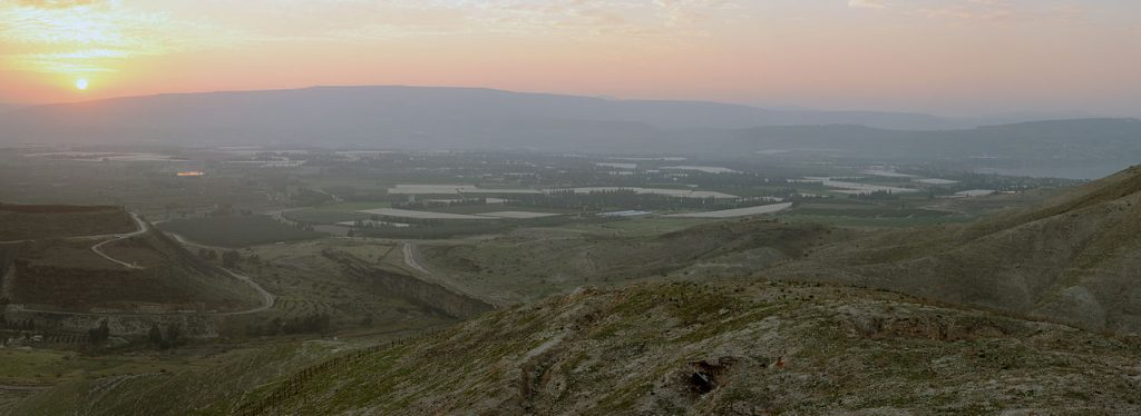 The Jordan River valley (credit: Staselnik, license: CC BY-SA)