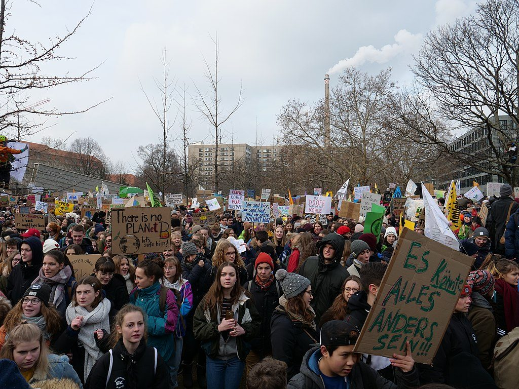 """""""There is no PLANet B."""" Start of the FridaysForFuture Demonstration 25-01-2019 Berlin (credit: Leonhard Lenz, license: CC0)"""
