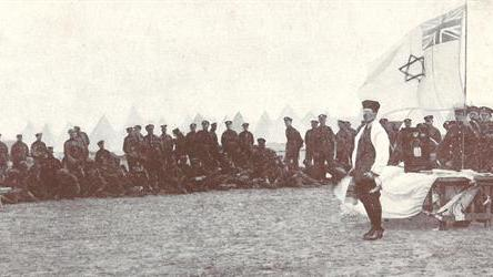 A Shabbat service for Jewish members of the Royal Fusiliers (via the JC)