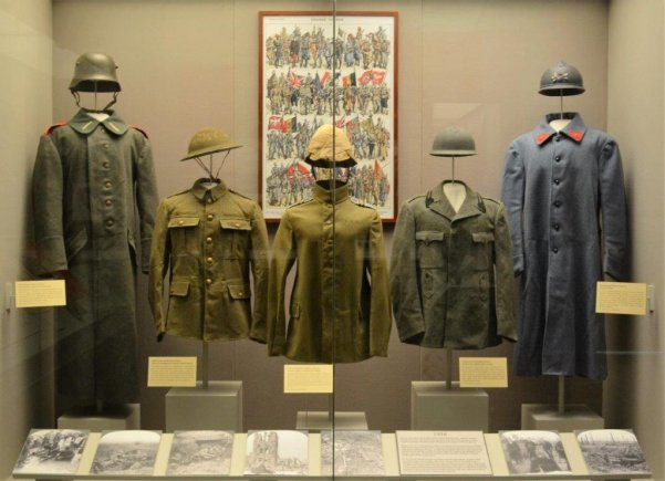 West Point Museum display of World War I era uniforms (U.S. Army photo by West Point Museum/released.) (Photo Credit: (West Point Museum))