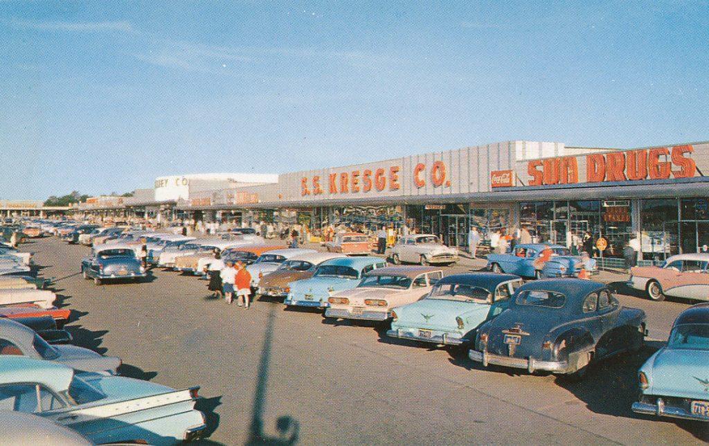 Kresge company postcard circa 1950s