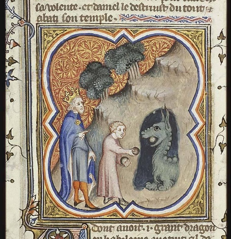 Daniel injures the Dragon (The Hague, MMW, 10 B 23)