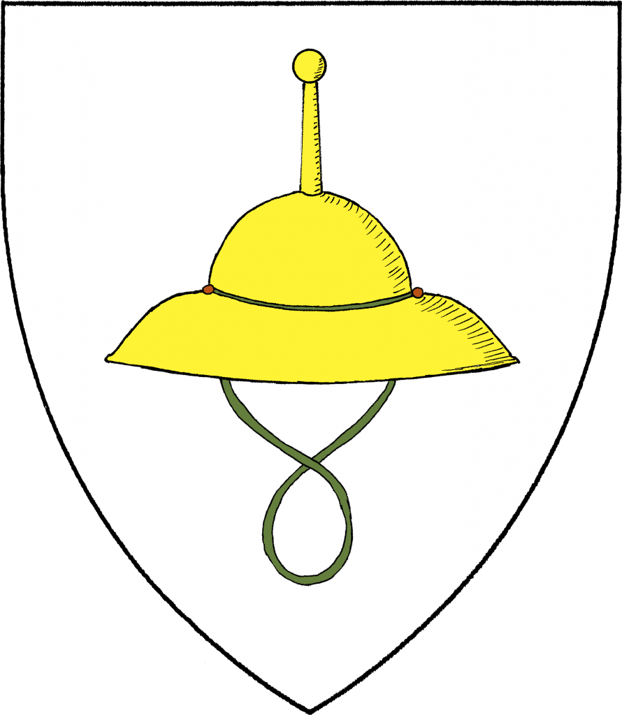 A Judenhat escutcheon (colorized by Aharon Varady)