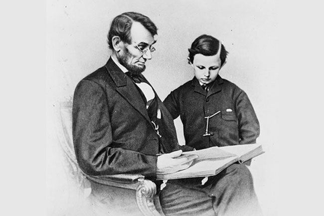 Abraham Lincoln and his son