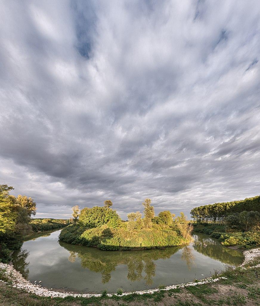 Ansa del fiume Secchia - San Benedetto Po, Mantova, Italia (credit: Giorgio Galeotti, license: CC BY)