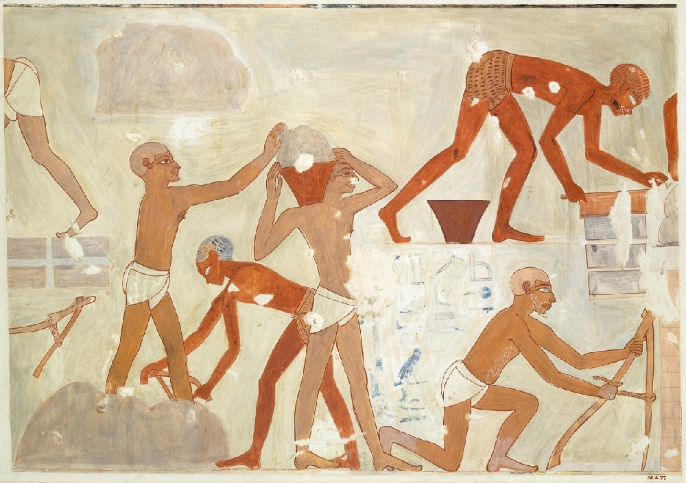 Brickmakers, Tomb of Rekhmire, ca. 1479–1425 B.C.E (Metmuseum.org)