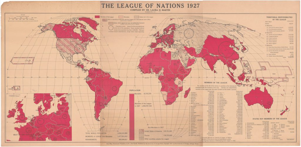Laura H. Martin, THE LEAGUE OF NATIONS 1927. Washington, DC, 1925/1927.