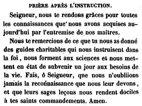 Prière après l'instruction (Jonas Ennery and Arnaud Aron 1852)