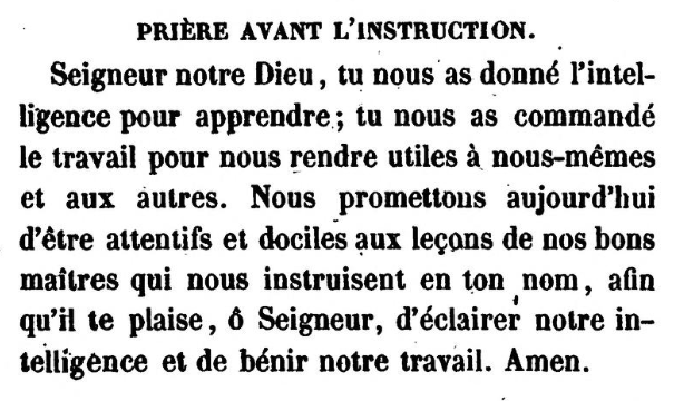 Prière avant l'instruction (Jonas Ennery and Arnaud Aron 1852)