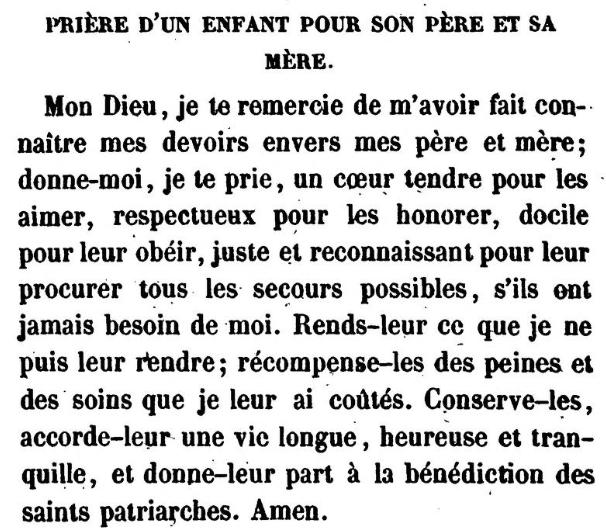 Prière d'un enfant pour son père et sa mère (Jonas Ennery and Arnaud Aron 1852)