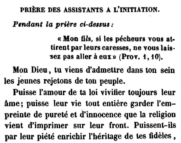 Detail of Prière des assistants a l'initiation (Jonas Ennery and Arnaud Aron 1852)
