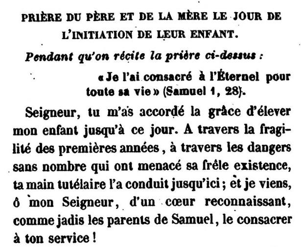 Detail of Prière du père et de la mère le jour de l'initiation de leur enfant (Jonas Ennery and Arnaud Aron 1852)