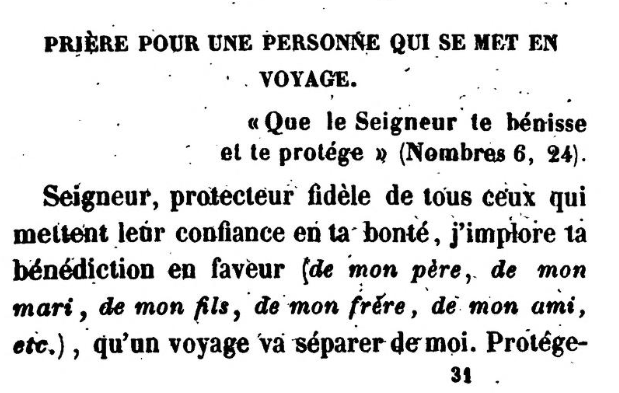 Detail from Prière pour une personne qui se met en voyage by Jonas Ennery and Rabbi Arnaud Aron (1852)