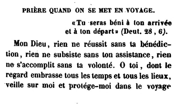 Detail from Prière quand on se met en voyage by Jonas Ennery and Rabbi Arnaud Aron (1852)